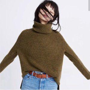 Madewell Mercer Chunky Knit Turtleneck Sweater in Coziest Yarn Size XS NEW